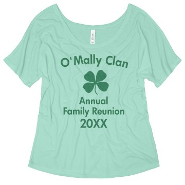 O'Mally Clan Junior Fit Bella Sheer Longer Length Rib Tee