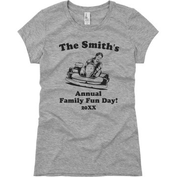 Family Fun Day Junior Fit Bella Sheer Longer Length Rib V-Neck Tee