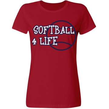 Softball 4 Life Misses Relaxed Fit Gildan Ultra Cotton Tee