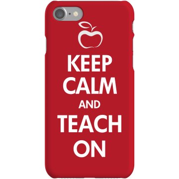 Teach On iPhone  Plastic iPhone 5 Case White