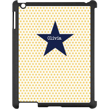 Custom Star iPad Case Black iPad Snap-on Case