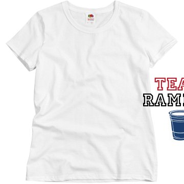 Team Ramrod Misses Relaxed Fit Basic Gildan Ultra Cotton Tee
