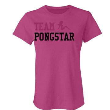 Team Pongstar Junior Fit Bella Sheer Longer Length Rib Tee