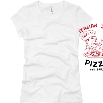 Pizza Shop Tee Junior Fit Basic Bella Favorite Tee