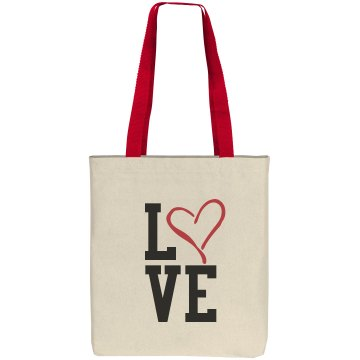 Love Tote Bag Liberty Bags Cotton Canvas Tote