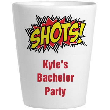 Bachelor Party Shot Glass Ceramic Shotglass