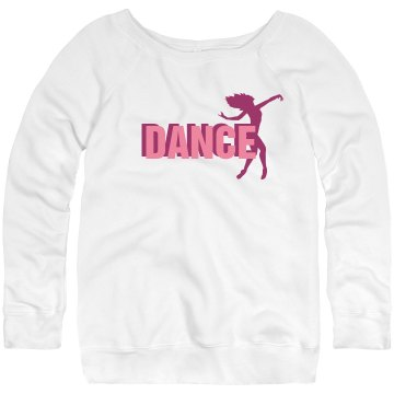 Dance Sweatshirt Junior Fit Bella Triblend Slouchy Wideneck Sweatshirt