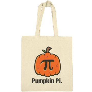 Pumpkin Pi Bag Liberty Bags Canvas Bargain Tote Bag