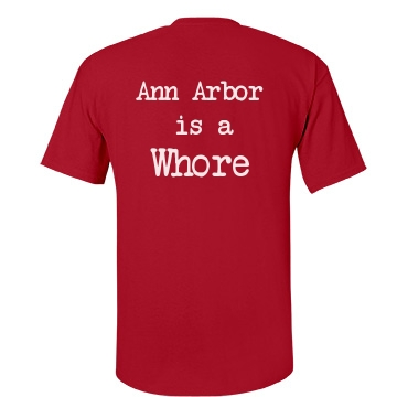 Ann Arbor is a Whore-mens Unisex Gildan Heavy Cotton Crew Neck Tee