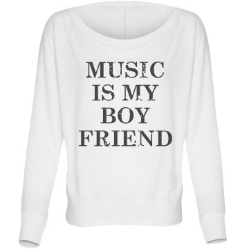 Music Boyfriend Flowy Misses Bella Flowy Lightweight Relaxed Dolman Tee