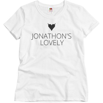 John's Valentine Love Misses Relaxed Fit Basic Gildan Heavy Cotton Tee
