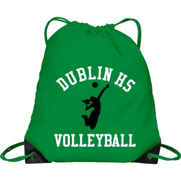 Dublin HS Volleyball Bag Port &amp; Company Drawstring Cinch Bag