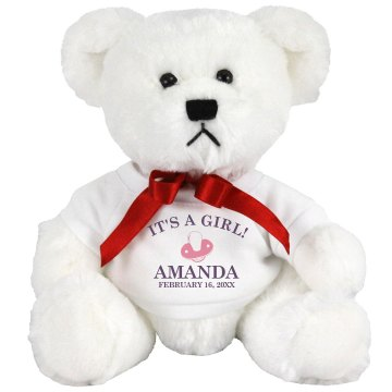 It's A Girl! Medium Plush Teddy Bear