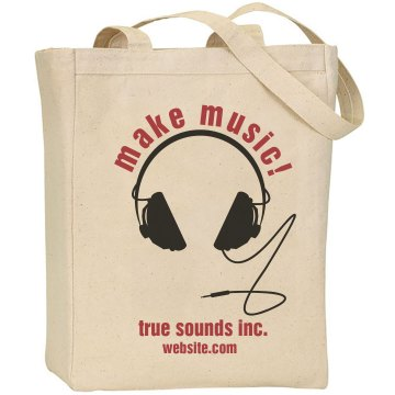 Make Music Business Bag Liberty Bags Canvas Tote