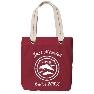 Just Married Cruise Bag Port Authority Color Canvas Tote