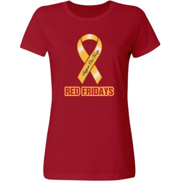 Military Red Fridays Misses Relaxed Fit Gildan Ultra Cotton Tee