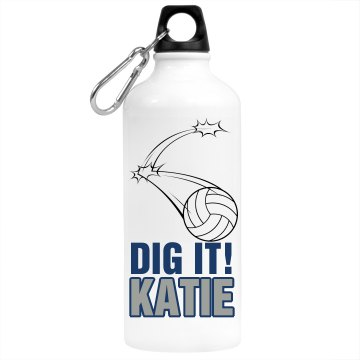Dig It Name Bottle Aluminum Water Bottle