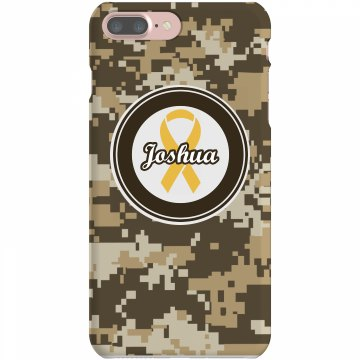 Yellow Ribbon iPhone Case Plastic iPhone 5 Case White