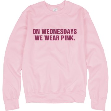 We Wear Pink Crewneck Unisex Gildan Heavy Blend Sweatshirt