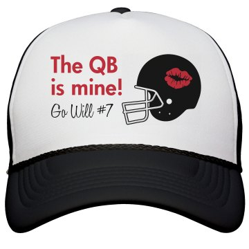 The QB is Mine Hat KC Caps Poly-Foam Snapback Trucker Hat