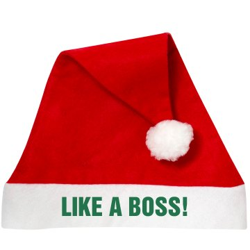 Santa Like a Boss Personalized Santa Hat