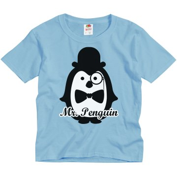 Mr. Penguin Youth  Youth Gildan Ultra Cotton Crew Neck Tee
