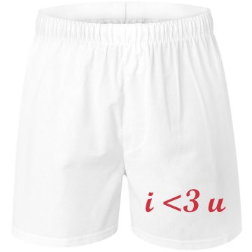 I 3 U Love Unisex Robinson Boxer Shorts