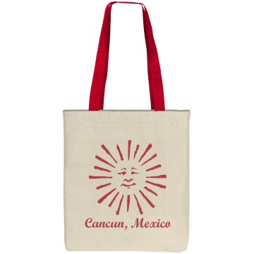 Cancun Mexico Beach Bag Liberty Bags Cotton Canvas Tote