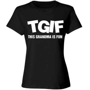 This Grandma Is Fun Junior Fit Bella Crewneck Jersey Tee