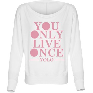 Blocked Out YOLO Misses Bella Flowy Lightweight Relaxed Dolman Tee