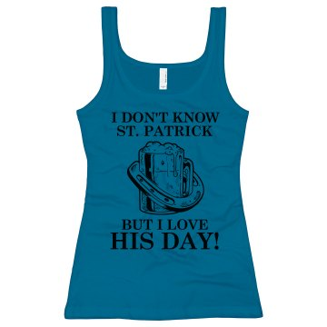 St. Patick's Day Tank Junior Fit Bella Sheer Longer Length Rib Tank Top