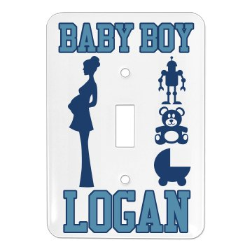 Baby Boy's Room Single Light Switch Cover
