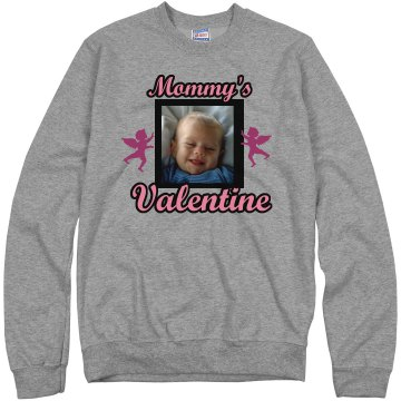 Mommy&#x27;s Valentine Unisex Hanes Crew Neck Sweatshirt