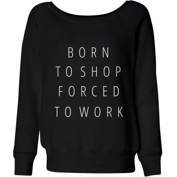 Born To Shop Junior Fit Bella Crewneck Jersey Tee