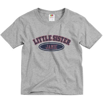 Little Sister Jamie Youth Basic Gildan Heavy Cotton Crew Neck Tee