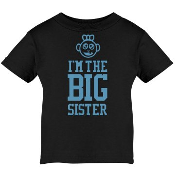I&#x27;m the Big Sister Infant Rabbit Skins Lap Shoulder Tee