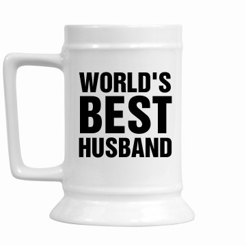 World&#x27;s Best Husband 16oz Ceramic Stein