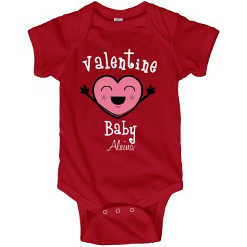 Valentine Baby Infant Rabbit Skins Lap Shoulder Creeper