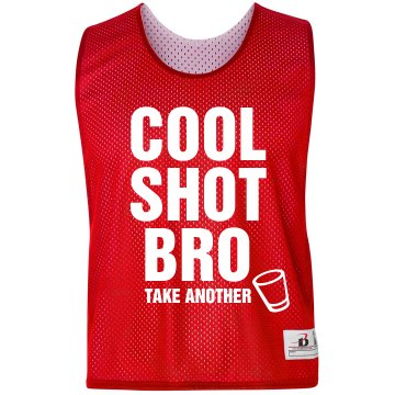 Cool Shot Bro Badger Sport Lacrosse Reversible Practice Pinnie