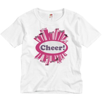 Cheer! Youth Basic Gildan Ultra Cotton Crew Neck Tee