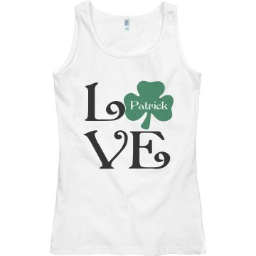 Love With Shamrock Junior Fit Bella Sheer Longer Length Rib Tank Top