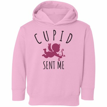 Cupid Sent Me Toddler Rabbit Skins Hooded Sweatshirt
