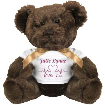 Maternity Keepsake Bear Plush Baby Shower Teddy Bear