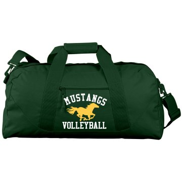 Mustangs Volleyball Port & Company Large Square Duffel Bag
