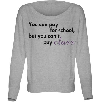 You Can Pay for School Misses Bella Flowy Lightweight Relaxed Dolman Tee