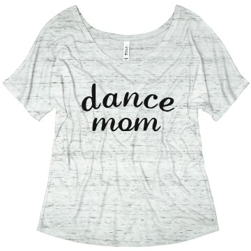 Dance Mom Rhinestone Junior Fit Bella Sheer Longer Length Rib Tee