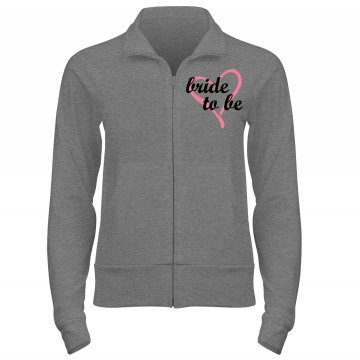 Bride To Be Track Jacket Junior Fit Bella Cadet Zip Track Jacket