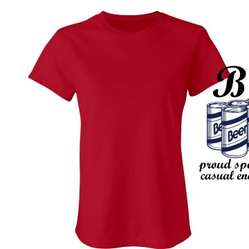 Beer Proud Sponsor Junior Fit Bella Sheer Longer Length Rib Tee