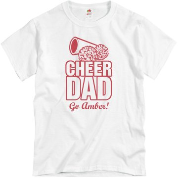 Proud Cheer Dad Unisex Basic Gildan Heavy Cotton Crew Neck Tee