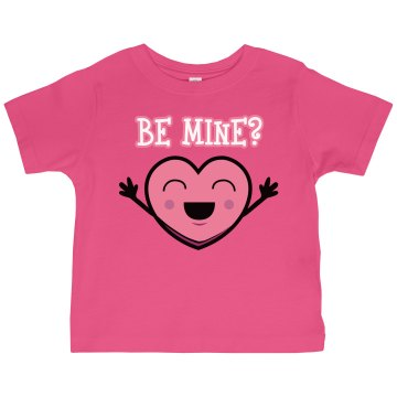 Be Mine? Candy Heart Toddler Gildan Ultra Cotton Crew Neck Tee